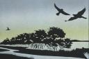 Lino Print in Silhouette
